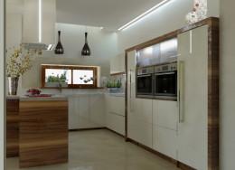 Jadalnia i kuchnia glamour