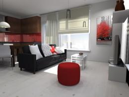 Salon pobudzony czerwienią