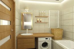 Łazienka - nowoczesny glamour