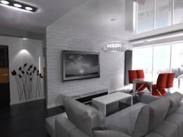 Salon z aneksem, mieszkanie 50m2 Poznań