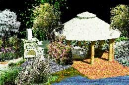 Ogród przydomowy w stylu wiejskim