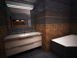 łazienka w kolorach ziemi