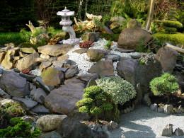 Prywatny ogród rustykalny