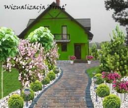 Projekt ogrodu przydomowego- Sobków
