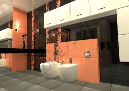 Łazienka z kominkiem