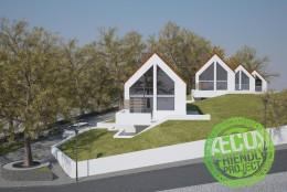 Osiedle budynków ekologicznych