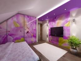 Sypialnia dla studentki w mieszkaniu w Krakowie