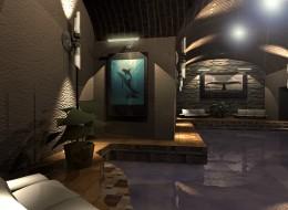 Aranżacja basenu w podziemiach pałacowych