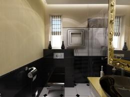 Styllowa łazienka w willi w Londynie
