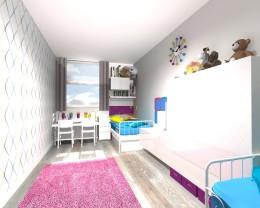 Aranżacja pokoju dziecięcego dla dwu- i cztero- latki.