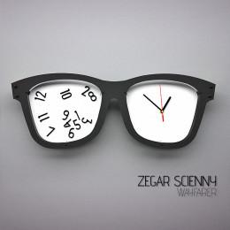 Zegar ścienny - okulary wayfarer