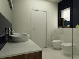 projekt sypialni oraz przyległej łazienki