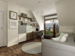 Sypialnia dla gości w domu jednorodzinnym