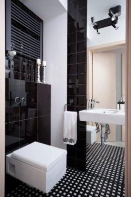 Black&White w małej łazience
