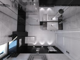 Czarno-biała elegancja w łazience