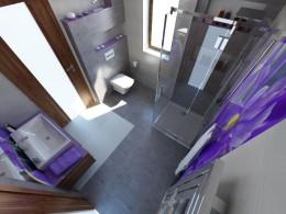 Mała łazienka na parterze w domu pod Warszawą