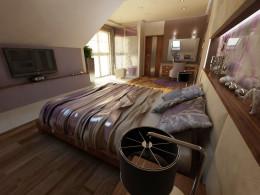Sypialnia w stylu glomour