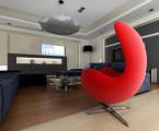 Projekt salonu, apartament Kraków