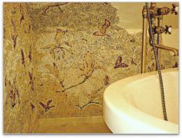 Mozaika  marmurowa w łazience