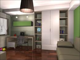 Projektowanie aranżacja wnętrz - pokój dla dziewczynki