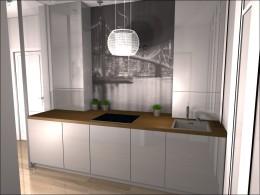 Oryginalny pomysł na małą kuchnię - Płock