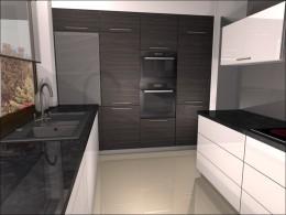 Projekt kuchni w domu jednorodzinnym - Łeba
