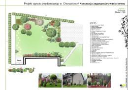 Projekt ogrodu przydomowego - Mogilany