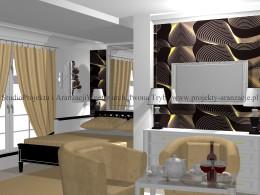 Sypialnia w stylu glamour