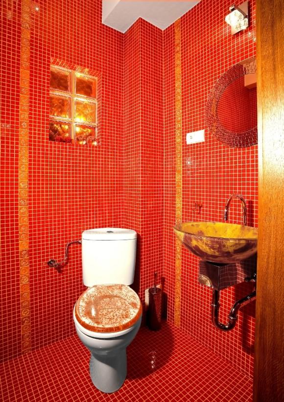 łazienka W Czerwieni Anna łysiak E Aranżacjepl