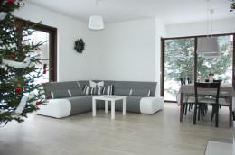 dom w bieli i szarości