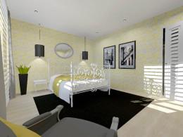 sypialnia żółta Łomianki