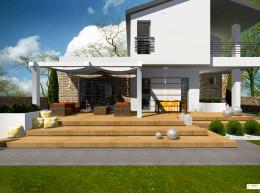 taras oraz otoczenie domu