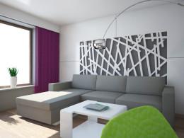 Projekt salonu w mieszkaniu / Szczecin