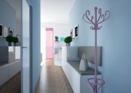 Stonowane wnętrza mieszkania dla singielki
