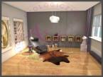 Minimalistyczny salon/czytelnia