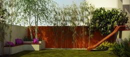 Ogród z fioletem
