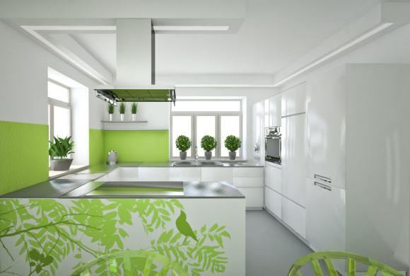 Zielona  kuchnia  Studio Daktyle  e aranżacje pl