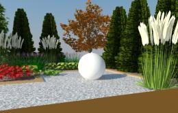 Ogród z fontanną