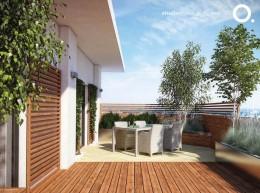 Ogród na dachu apartamentowca