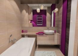 łazienka z fioletowym akcentem
