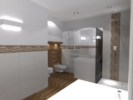 dwie łazienki
