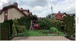 ogródek przy szeregówce
