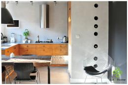 kuchnia drewno i beton