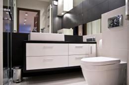 Łazienka w monokolorach