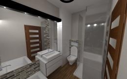 mała, męska łazienka