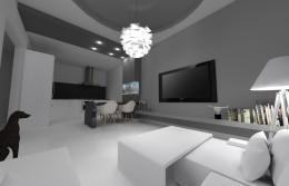 Apartament monochromatyczny