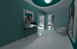apartament w odcieniach zieleni