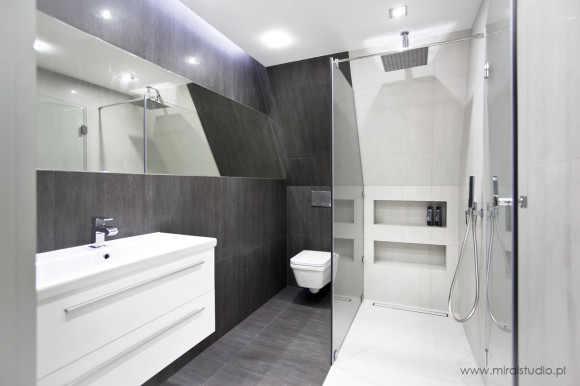 łazienka Na Poddaszu Maria Wiśniewska E Aranżacjepl