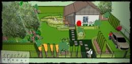 Ogród działkowy- projekt.