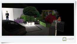 Ogród przy zabudowie szeregowej.